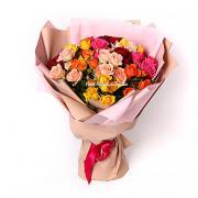 Букет радуга из розы спрей Кения