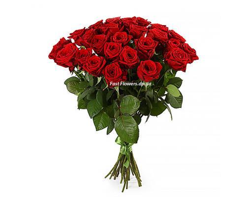 25 красных роз Престиж в букете