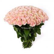 101 ніжно рожева троянда Марина