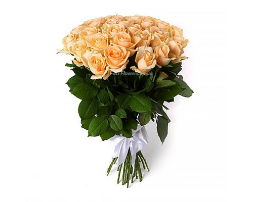 35 кремовых роз Пинч Аваланч