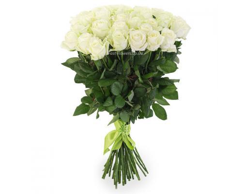 35 белых роз Аваланч