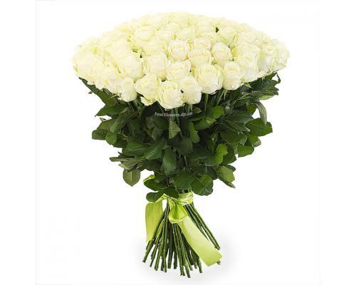 51 белая роза Аваланч