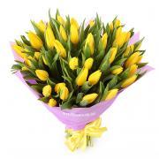 51 желтый тюльпан в букете